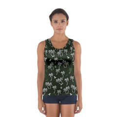 Tropical Pattern Sport Tank Top