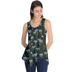 Tropical Pattern Sleeveless Tunic