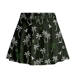 Tropical Pattern Mini Flare Skirt