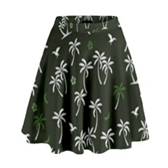 Tropical Pattern High Waist Skirt