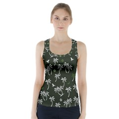 Tropical Pattern Racer Back Sports Top