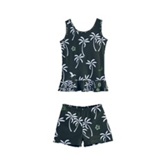 Tropical Pattern Kid s Boyleg Swimsuit