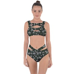 Tropical Pattern Bandaged Up Bikini Set