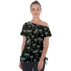 Tropical Pattern Tie Up Tee
