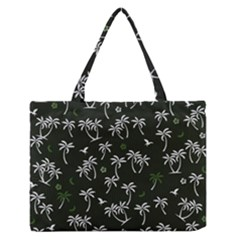 Tropical Pattern Zipper Medium Tote Bag