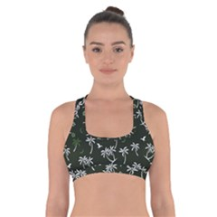 Tropical Pattern Cross Back Sports Bra