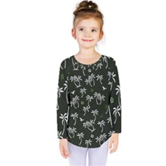 Tropical Pattern Kids  Long Sleeve Tee