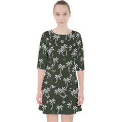 Tropical Pattern Pocket Dress