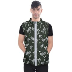 Tropical Pattern Men s Puffer Vest