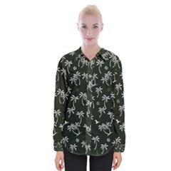 Tropical Pattern Womens Long Sleeve Shirt