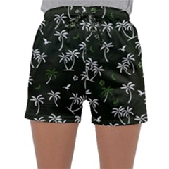 Tropical Pattern Sleepwear Shorts