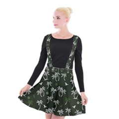 Tropical Pattern Suspender Skater Skirt