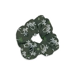 Tropical Pattern Velvet Scrunchie