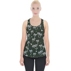 Tropical Pattern Piece Up Tank Top