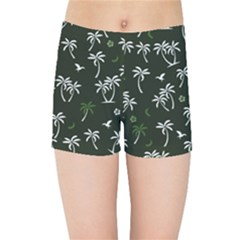 Tropical Pattern Kids Sports Shorts