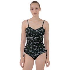 Tropical Pattern Sweetheart Tankini Set