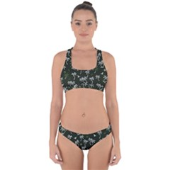 Tropical Pattern Cross Back Hipster Bikini Set