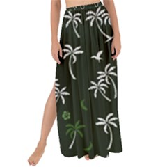 Tropical Pattern Maxi Chiffon Tie Up Sarong