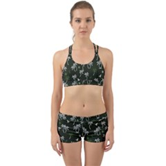 Tropical Pattern Back Web Gym Set