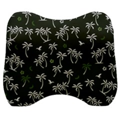 Tropical Pattern Velour Head Support Cushion