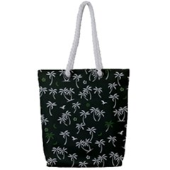 Tropical Pattern Full Print Rope Handle Tote (small)