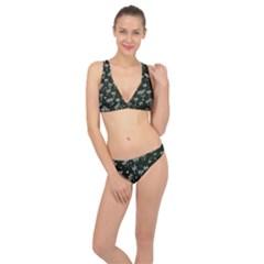 Tropical Pattern Classic Banded Bikini Set