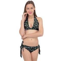 Tropical Pattern Tie It Up Bikini Set