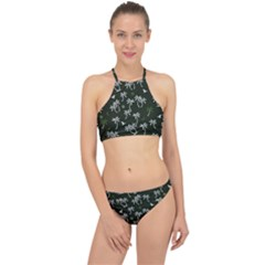 Tropical Pattern Racer Front Bikini Set