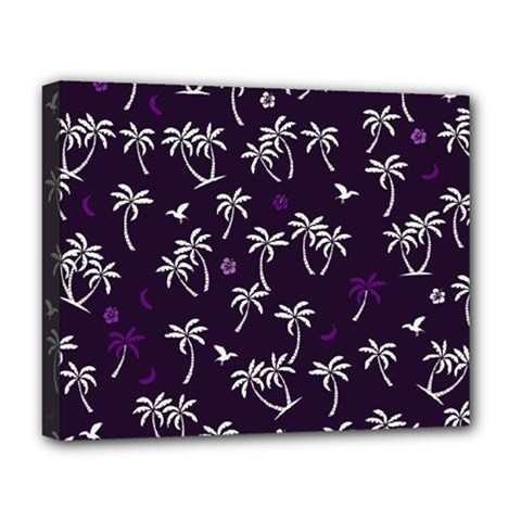Tropical Pattern Deluxe Canvas 20  X 16