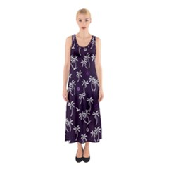 Tropical Pattern Sleeveless Maxi Dress