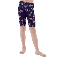 Tropical Pattern Kids  Mid Length Swim Shorts