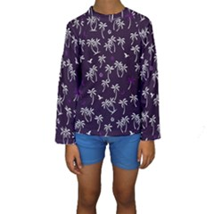 Tropical Pattern Kids  Long Sleeve Swimwear