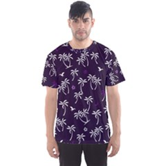 Tropical Pattern Men s Sports Mesh Tee