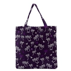 Tropical Pattern Grocery Tote Bag