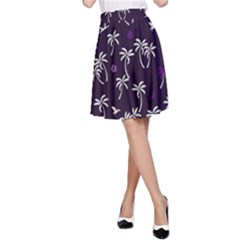 Tropical Pattern A Line Skirt