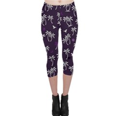 Tropical Pattern Capri Leggings
