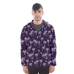 Tropical Pattern Hooded Windbreaker (men)