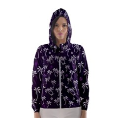 Tropical Pattern Hooded Windbreaker (women)
