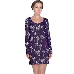 Tropical Pattern Long Sleeve Nightdress