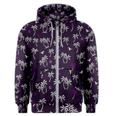 Tropical Pattern Men s Zipper Hoodie