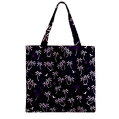 Tropical Pattern Zipper Grocery Tote Bag
