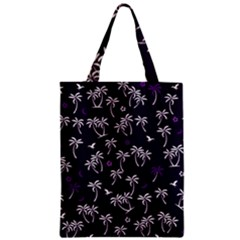 Tropical Pattern Zipper Classic Tote Bag