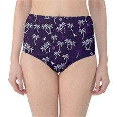 Tropical Pattern Classic High Waist Bikini Bottoms