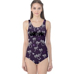 Tropical Pattern One Piece Swimsuit