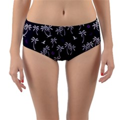 Tropical Pattern Reversible Mid Waist Bikini Bottoms