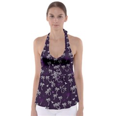 Tropical Pattern Babydoll Tankini Top