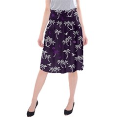 Tropical Pattern Midi Beach Skirt