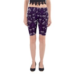 Tropical Pattern Yoga Cropped Leggings
