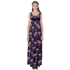 Tropical Pattern Empire Waist Maxi Dress