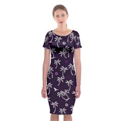 Tropical Pattern Classic Short Sleeve Midi Dress